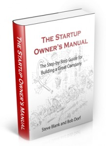 Startup Owners Manual authored by Steve Blanks